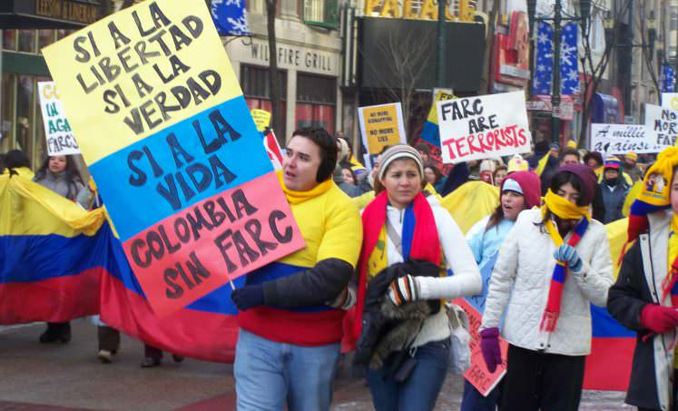 Rally for peace in Colombia